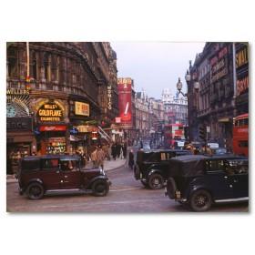 Αφίσα (Λονδίνο, δρόμος, κτίρια, κυκλοφορία, ουρανός, αρχιτεκτονική)